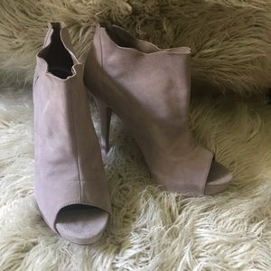 Ivory/Blush Booties